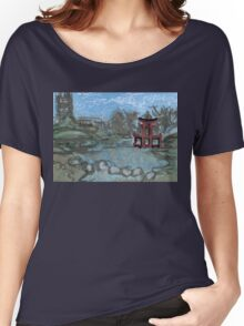 red pagoda in the pond Women's Relaxed Fit T-Shirt