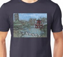 red pagoda in the pond Unisex T-Shirt