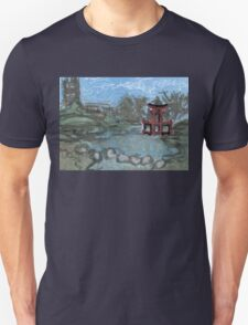 red pagoda in the pond T-Shirt