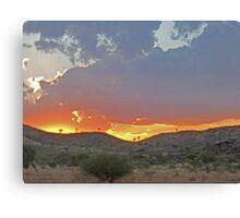 Sunset on the clouds , Purnululu National Park, Kimberley, Western Australia Canvas Print