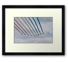 Red Arrows Overhead Framed Print