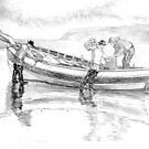 1900s Fishing Coble by Woodie