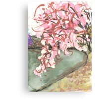 cherry blossoms over water Canvas Print
