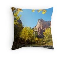The Virgin River in Zion Throw Pillow