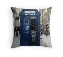 Coppuccino - The Smallest Coffee Shop In Glasgow Throw Pillow