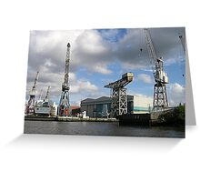 BAe Systems, River Clyde, Glasgow Greeting Card