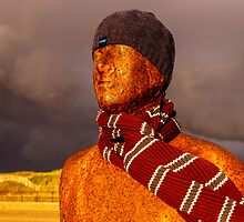 Iron Man, Crosby Beach, Liverpool by Beverley Goodwin