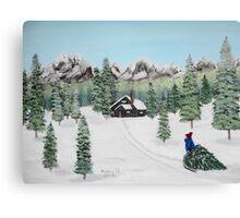 Christmas on the mountain  Canvas Print