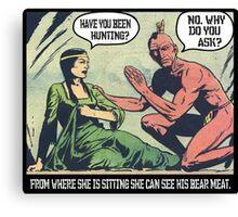 Classic Comic- My Sweet Bear Meat Jokes Canvas Print