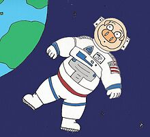 Astronaut Pig by Kerry Cillo
