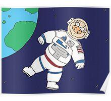 Astronaut Pig Poster