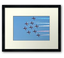 Red Arrow streak Framed Print