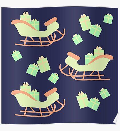 Christmas Sleigh & Presents #2 Poster