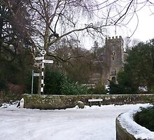 Clapham Church in Winter by Paul Swift