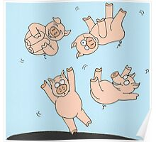 Trampoline Pigs Poster