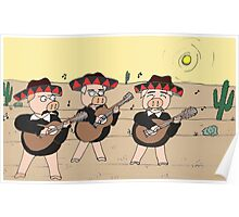 Mariachi Pigs Band Poster
