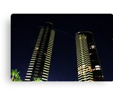Towers in the Night Canvas Print