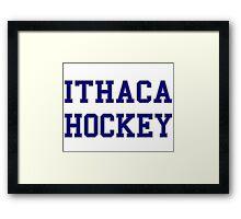 Ithaca Hockey Framed Print
