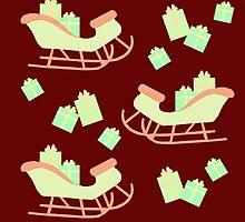 Christmas Sleigh & Presents #3 by simplepaperplan