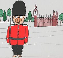 London Guard Pig by Kerry Cillo