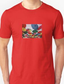 Street Decorated With Colored Umbrellas Unisex T-Shirt
