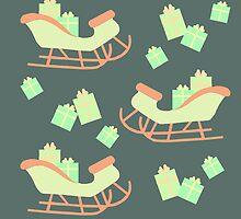 Christmas Sleigh & Presents #4 by simplepaperplan