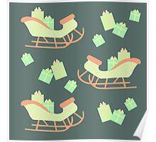 Christmas Sleigh & Presents #4 Poster