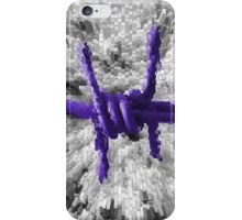 Purple Barbed Wire iPhone Case/Skin