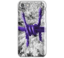 Purple Barbed Wire iPhone Case/Skin
