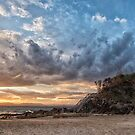 Sunset clouds at The Pass by Cheryl Styles