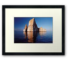 Kickers Rock, Galapagos Islands, Ecuador Framed Print