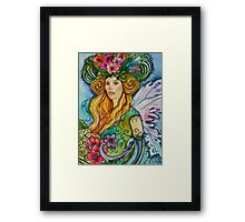 THE ANAMONE FAE, WATERCOLOR  FAIRY Framed Print