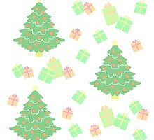 Christmas Tree with Presents #1 by simplepaperplan