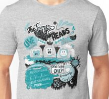 THE FROZEN CAT HEADS - LIVE!  Unisex T-Shirt