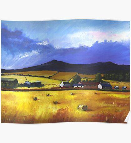 Bennachie in the Autumn Poster