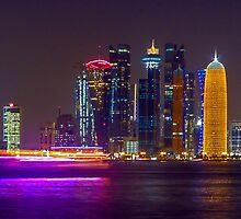 Doha skyline #1 by Roberto Pagani