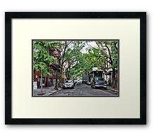 Jones Street, Greenwich Village Framed Print