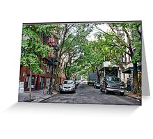 Jones Street, Greenwich Village Greeting Card