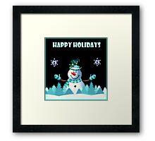 Mr Snowman Framed Print