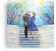 Little Blue Box Canvas Print