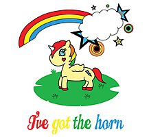 Cheeky Unicorn  - I've Got the Horn (Adult Version) Photographic Print