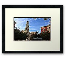 Father Demo Square on Bleecker St. Framed Print