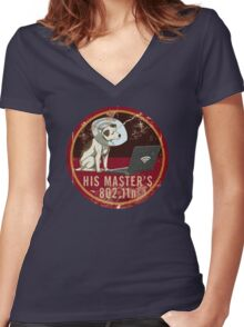 His Master's 802.11n Women's Fitted V-Neck T-Shirt