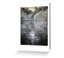 Rocks Reflecting Moonlight Greeting Card