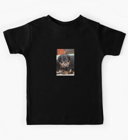 Messy Rottweiler Puppy With Food Covering Nose Kids Tee