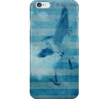 seagull in cyan 2 iPhone Case/Skin