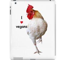 I Love Vegans Chicken iPad Case/Skin