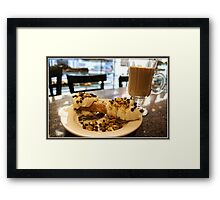 Cannoli and Cappuccino Framed Print