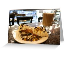 Cannoli and Cappuccino Greeting Card