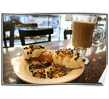 Cannoli and Cappuccino Poster